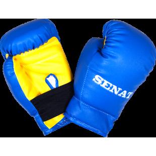 Перчатки боксерские  детские 4 унций, сине-желтые, 1536-bl/yllw