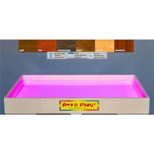 Мобильная светодиодная песочница - планшет МИНИ 16 цветов, ЯСЕНЬ /500×330