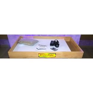 Мобильная светодиодная песочница - планшет МИНИ 16 цветов, отсек для песка- ОЛЬХА /550×330
