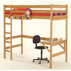 Кровать-чердак с рабочей зоной Соло-1
