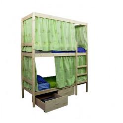 Двухъярусная кровать c каркасом для штор