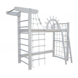 Кровать-чердак Белый Пират