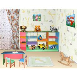 Стеллаж для игрушек Цветной