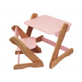 Детский комплект: растущий столик и растущий стульчик. Розовый