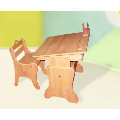 Детская парта-мольберт с пеналом + растущий стульчик