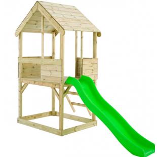 Детская площадка для дачи Домик с горкой для спуска