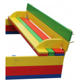 Песочница с крышкой цветная 150х150х36