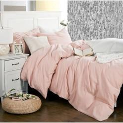 """Льняное постельное белье """"Розовый Сапфир"""""""