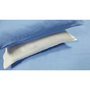 """Льняное постельное белье """" Бело-голубой, микс"""""""