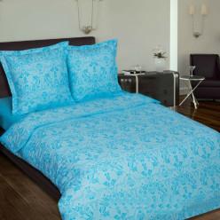 Комплект постельного белья из поплина Грация Лазурь