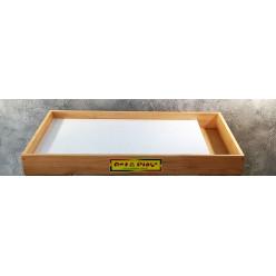 Мобильная светодиодная песочница - планшет МИНИ белый, отсек для песка- ЯСЕНЬ /550×330