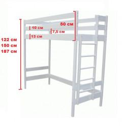 Кровать-чердак Альпы 122, 150, 187 см