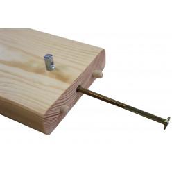 """Одноярусная подростковая кровать из дерева """"Ирель Уют"""""""