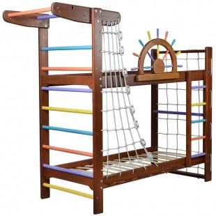 """Двухъярусная кровать-спортивный уголок """"Забавный Пират"""""""