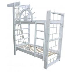 Двухъярусная кровать Пират Белый
