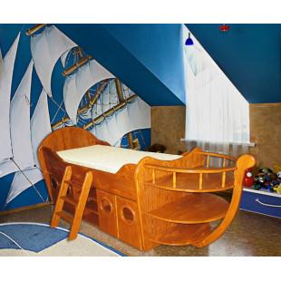 Одноярусная кровать Ирель Кораблик