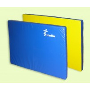 "Мат гимнастический ""Ирель"" 120х80х8см желто-синий"