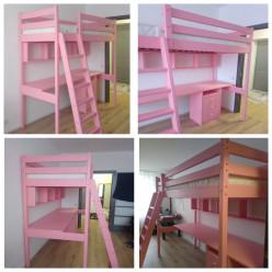 Кровать-чердак с рабочей зоной Соло
