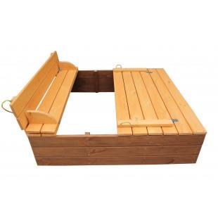 Песочница с крышкой деревянная в тонировке