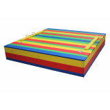 Песочница с крышкой цветная 125х125х30 см