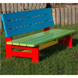 Cадовая скамейка детская цветная