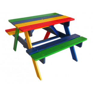 Детский столик с лавочками садово-уличный