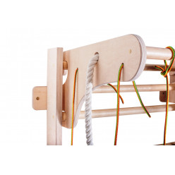 Шведская стенка с усиленным навесным турником и веревочным набором