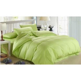 Комплект постельного белья из однотонного сатина SHADOW LIME, №17
